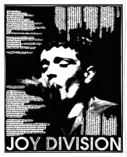 Joy Division Vinyle autocollant paroles Ian Curtis post punk rock Shes a perdu le contrôle