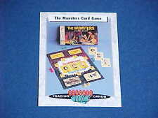 CLASSIC TOYS TRADING CARDS THE MUNSTERS HORROR TV CARD GAME