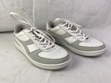 Diadora Classic Running Athletic Shoes White Gray Size 9.5 Preowned Mens