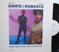 """STEVEN DANTE & JULIET ROBERTS Never Had A Love Like This Before ~ 12"""" Single PS"""