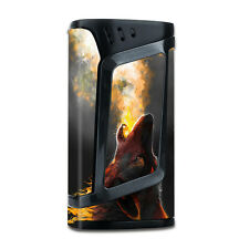 Skins Decals for Smok Alien 220w TC Vape Mod / Wolf howling at Moon