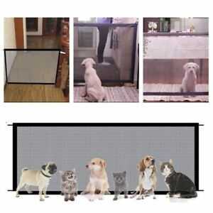 Dog Safety Gate Pet Guard Enclosure Cat Fences Mesh Ingenious Easy Install