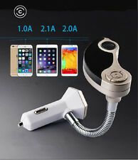 Wireless Bluetooth FM Transmitter USB Car Charger For iPhone 7 8 plus X LG HTC