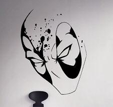 Marvel Comics Wall Decal Deadpool Antihero Vinyl Sticker Unique Art Decor 74nse