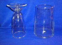 Lot of 2 Partylite Clear Glass Pillar, Taper & Votive Candle Holders