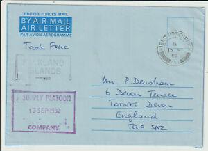 "FALKLAND ISLANDS - 1982 "" FPO. 141 "" SUPPLY PLATOON AIRLETTER"