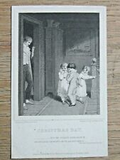 Westall / Mitchell - Engraving Christmas day 1824 Gravure XIXème Angleterre
