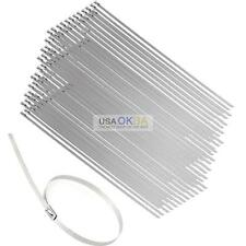 "100 x 12"" Stainless Steel Header Exhaust Wrap Self Locking Cable Zip Ties"