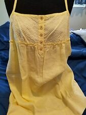Juicy Couture Yellow Linen Dress 12 NWT