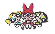 POWERPUFF GIRLS Iron on Patch Embroidered Badge Sew Craft Cartoon TV PT200