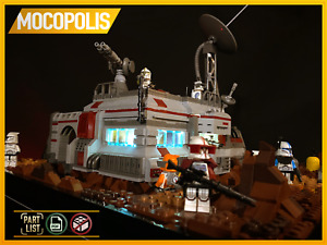 LEGO MOC Star Wars Clone Base (Outpost) on Geonosis |PDF instructions (NO PARTS)