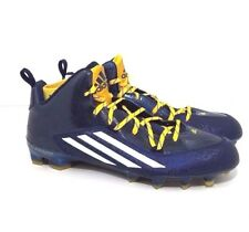 MEN ADIDAS CLEATS SIZE 15 CRAZYQUICK 2.0 Mid Football NAU NAVY BLUE AND YELLOW