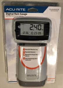 Acurite Wireless Digital Rain Gauge with Self-Emptying Collector