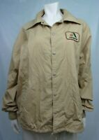 K-Brand Ladies Jacket Coat Size L Brown Solid Cotton Blend Asgrow
