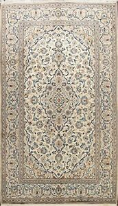 Vintage IVORY Floral Hand-knotted Traditional Area Rug Dining Room Oriental 7x10