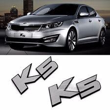 Side Front Trunk Hairline Emblem Point K5 Logo Badge 2p for KIA 2011-2015 Optima