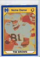 1990 COLLEGEGATE FOOTBALL CARD # 2- HOF TIM BROWN - NOTRE DAME / OAKLAND RAIDERS