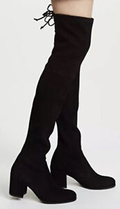 Stuart Weitzman Tieland Over the Knee Thigh High Black Suede Style Sz 5 New