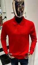 KITON Napoli Long-Sleeve Wool Polo Shirt Size 58 / 3XL (100% Authentic & New)