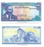 Kenya 20 Shillings 1978  P-17 Banknotes  UNC