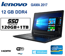 ORDENADOR PORTATIL LENOVO INTEL12GB DDR4 120ssd+1tb / WINDOWS 10 PROFESIONAL