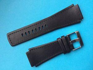 Junghans Mega 1000 Lederband 026/4500 schwarz Ersatzband Band Strap