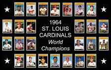 ST LOUIS CARDINALS 1964 World Series Baseball Card POSTER Decor Birthday Gift