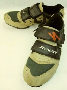 Specialized 610-1239 Mens Shoes US7M EU39 Brown Suede Cycling lace hook loop 264
