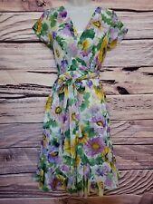 Chadwicks garden party size 4P flowy floral trumpet style dress