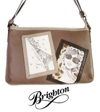 "Brighton Fashionista ""Tali"" Taupe Leather Cross Body Pouch Purse - NWT - $165"