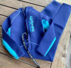 Lavatone Blue wetsuit youth kids 9-10 NWOT S2
