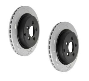 Bendix Ultimate Slotted & Dimpled Brake Rotor Pair Rear BR2108 fits Ford Terr...