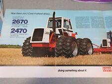 Case 2470 & 2670 4WD Farm Tractor Sales Brochure !