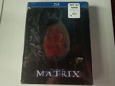 New The Matrix Steelbook Blu-ray SEALED Best Buy Exclusive Keanu Reeves