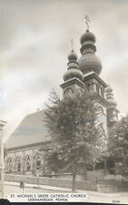 VINTAGE PHOTO OF ST. MICHAELS GREEK CATHOLIC CHURCH - SHENANDOAH, PA