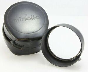 Minolta vintage lens hood for Rokkor 58mm f1.4, ref D57KG, metal with case