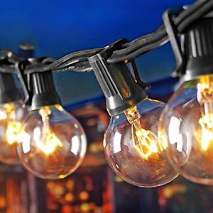 KooPower G40 Outdoor String Lights,25FT Mains Powered Pergola Lights Waterproof