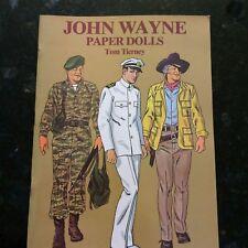 John Wayne Paper Dolls Uncut Tom Tierney 1980 Dover