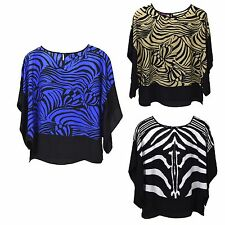 Animal Print Casual Plus Size Tops & Blouses for Women