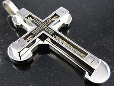 Neu Edelstahl Kreuz Anhänger  massiv  7 cm x 4 cm Kettenanhänger Rocker Schmuck