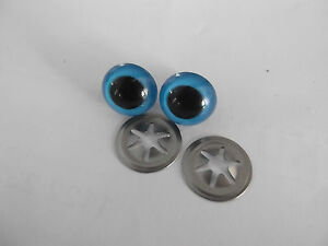 CRYSTAL TYPE BLUE PLASTIC TEDDY EYES IN ASSORTED SIZES