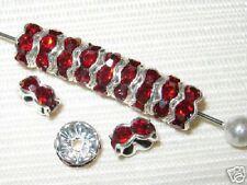 Sale! 40 Swarovski Rondelle Beads 6mm Silver / Siam