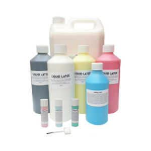 Liquid Latex - All Colours - Moulds/Costume Black,White,Pink,Red,Blue,Flesh,Skin