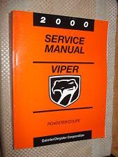 2000 DODGE VIPER SERVICE MANUAL SHOP BOOK ORIGINAL DAIMLER CHRYSLER