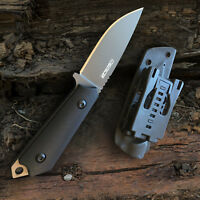 Oerla Field Knife Fixed Blade Fine Edge Blade with G10 Handle and Kydex Sheath