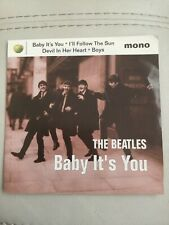"1995 The Beatles  BABY IT'S YOU 7"" Mono  45 EP & Picture Sleeve 4 BBC Tracks NM"