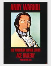 Andy Warhol, American Indian Series (Black), 1976 Exhibition Poster