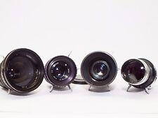 4x LOMO OKC 28 35 50 135 Lens set OCT18 OKS KONVAS Movie Lens set USSR pro cine