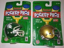 RARE 1990s Riddell NCAA Pocket Pro S Notre Dame Michigan State Mini Helmets