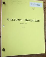 THE WALTONS MOUNTAIN MOTHER'S DAY ORIGINAL TV movie  SCRIPT OWNED BY JOE CONLEY